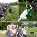 Fans zum Mitfiebern und Schleifenhund Hummel